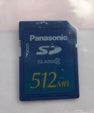 Brand New Panasonic 512MB SD Memory card Digital Camera memory card