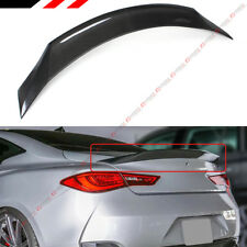 FOR 2017-19 INFINITI Q60 JDM HIGH KICK DUCKBILL CARBON FIBER TRUNK SPOILER WING