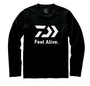 Daiwa Feel Alive Black Fishing T Shirt Long Sleeve Sun Protection 50+ UPF