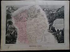 Carte Algérie Province d'Oran Vuillemin 1880 XIX