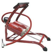 Foot Pump Premium Heavy Duty Double Barrel with Pressure Gauge Rubber Grip Pedal