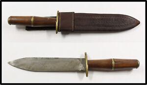Vintage Chile Uruguay fighting knife dagger w leather sheath n corvo gaucho LOOK