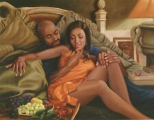 "African American Art ""Midnight Snack"" Black Romantic Art Print Henry Lee Battle"