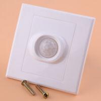 LED Unterputz Lichtschalter Wand Bewegungsmelder PIR Infrarot Körper Sensor 50Hz