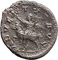 TREBONIANUS GALLUS on horse 251AD Rare Silver Ancient Roman Coin i48117