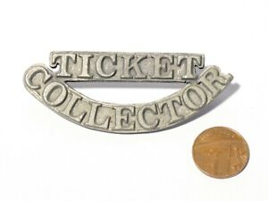 Vintage TICKET COLLECTOR Badge Railway Transport Unusual Prototype ? #V121