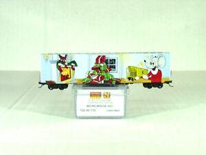 MICRO-TRAINS N SCALE 60' BOX CAR MICRO MOUSE CHRISTMAS CAR 2021 10200170