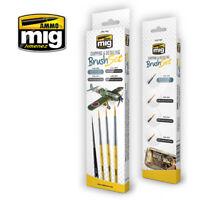 AMMO by Mig Jimenez Chipping & Detailing Brush Set (4pcs)