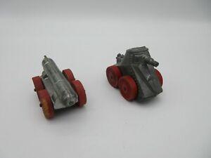 Vintage MANOIL 95 Tank & Torpedo Cart w/ Wooden Wheels Metal Toys Slush Cast