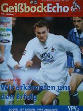 Programm 2000/01 1. FC Köln - VfL Wolfsburg