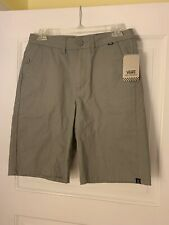 NWT VANS off the Wall Boys' Size 18 Orderly Shorts Gray Flat Front Retail $44.00