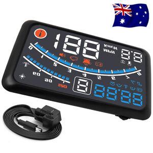 Universal Car HUD Head-Up Display OBD2 Speedometer Projector Speed Warning