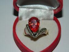 Anello in Argento con pietra Quarzo Cognac OMA19