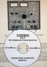 Cushman Ce 7 Fm Communications Monitor Operating Amp Service Manual