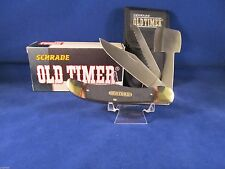 SCHRADE OLD TIMER FOLDING HUNTER KNIFE WITH HATCHET AND SHEATH IN FACTORY BOX