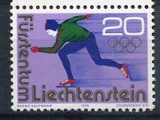 LIECHTENSTEIN 1976, timbre 578, SPORTS d' HIVER PATINAGE, JEUX INNSBRUCK, neuf**