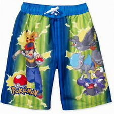 RARE SPLENDIDE BERMUDA SHORT DE BAIN POKEMON 6-7 ans MEDIUM