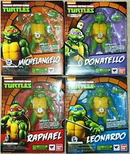 Lot of 4 Bandai S.H. Figuarts TMNT Teenage Mutant Ninja Turtles figures MISB