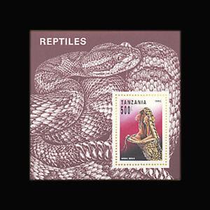 Tanzania, Sc #1135, MNH, 1993, S/S, Reptile, Vipera berus, A350IAI-A