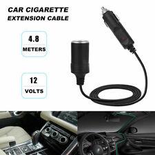 4.8M Car Cigarette Lighter Splitter Charger Plug Socket Extension Cord Cable