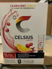 Celsius   Live Fit Stick Packs Cranberry Lemon   2-14 pks    FREE SHIPPING!
