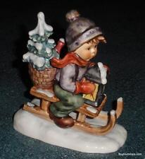 **LARGE** Ride Into Christmas Goebel Hummel Figurine #396 TMK5 Collectible Gift!