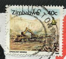 Zimbabwe stamps - Opencast Mining   40 Zimbabwean cent  1995