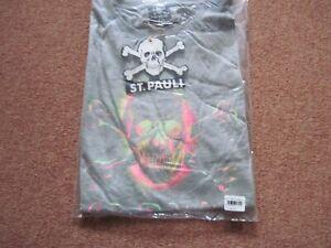 Original St. Pauli T Shirt XXL  grau Totenkopf vorne
