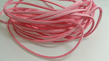 5 YARDS - 15 FEET Soft Pink Light Faux Suede Cord Leather Lace Ribbon Soft #14