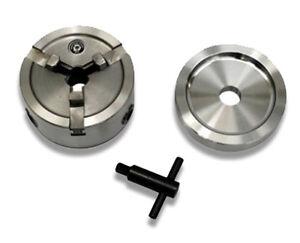 Brake Lathe Quick Chuck Adapter Set - Inc Backing Plate and Key - Hubless Rotors