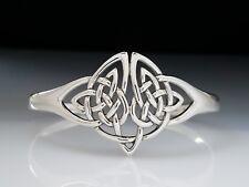 Celtic Knotwork Sterling Silver Bangle Bracelet  Peter Stone unique Fine Jewelry