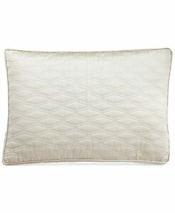 Hotel Collection King Pillow Sham Woven Texture Quilted Ivory