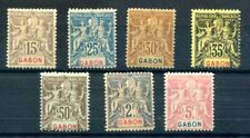 FOURNIER   FORGERIES  -   GABON  --early issues -7 stamps- lot 330