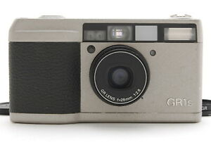 [Exc+++] Ricoh GR1s Silver 35mm Point & Shoot Film Camera w/ Filter From JAPAN