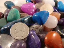 400 LARGE TUMBLED POLISHED GEMS - 5 Lb Lots - Crafts, Jewelry, FREE SHIPPING