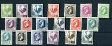 FRANCE 1944 Gallic cock & Marianne complete set MNH (1766)