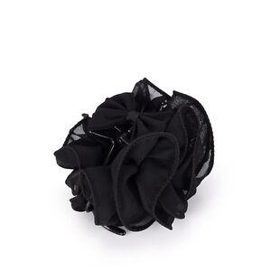 Fashion Womens Chiffon Rose Flower Bow Jaw Clip Barrette Hair Claw Gift Hot WM