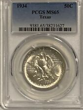 1934 Texas Commemorative Silver Half Dollar - PCGS MS 65 - Mint State 65