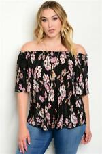 NEW..Stylish Plus Size Floral Off the Shoulder Top with Necklace..SZ18/1XL