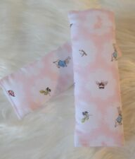 Padded Car Baby Seat Belt Strap Covers Highchair Stroller Pram Peter Rabbit Pink