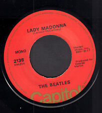 "BEATLES ‎– Lady Madonna (1976 US VINYL SINGLE 7"" REISSUE)"
