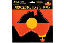 Australia Map shape Aboriginal flag Sticker