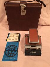 Polaroid Sx-70 Land Camera Leather Brown With Case Works