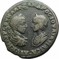 SEVERUS ALEXANDER & JULIA MAESA Ancient Marcianopolis Roman Coin DEMETER i78996
