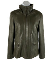 MARC NEW YORK ANDREW MARK Womam S Brown Soft Casual LEATHER JACKET Full ZIP Up