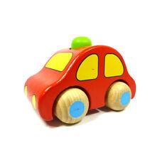 goki 55011 Holzauto mit Hupe zum Rollen aus 3 Farben wählbar Holz NEU! #