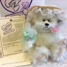 Annette Funicello Collectible Teddy Bear 4th Anniversary C31948 w/box & Coa