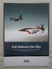 PLAQUETTE DEPLIANT KAI KOREAN AEROSPACE T-50 GOLDEN EAGLE KT-1 MILITARY TRAINER