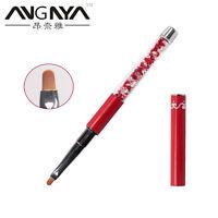 UV Gel Nail Brush Rhinestone Handle Oval Nylon Hair Brushes Nail Art Design #2