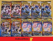 🌹 Lot de 10 Boosters Pokemon SL12 Eclipse Cosmique Neufs VF 🌹